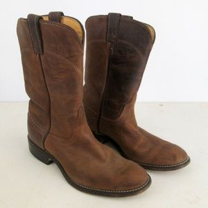 Laredo Brown Natural Leather Men's Cowboy Boots